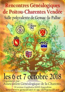 Rencontres généalogiques Poitou-Charentes-Vendée @ Salle polyvalente