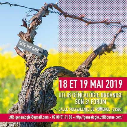 3e forum de généalogie en Libournais @ Salle polyvalente de Pomerol